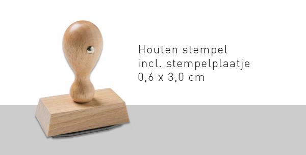 Trodat Hout 6x3cm