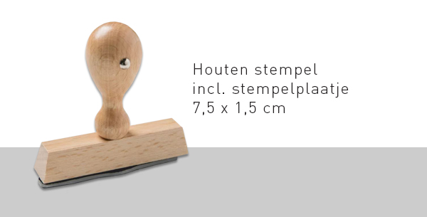 Trodat Hout 75x15mm